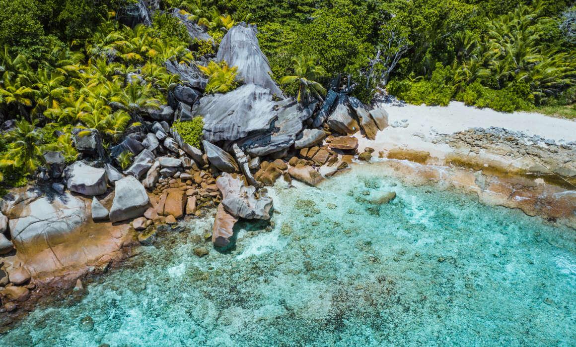 Don't you rock my boat Don't you rock my boat Don't you rock my boat aerial drone shot of grand l anse remote tropical FFKWK32 1160x700